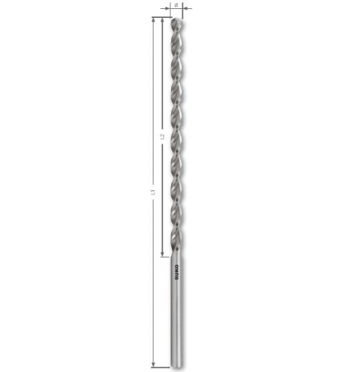 DIN 1869 TL 3000 HSS-G Matkap Uçları, Ekstra Uzun