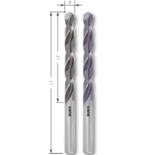 DIN 338 tipi N, lehimli Sert Metal Uclu (Elmas) Matkap uçları